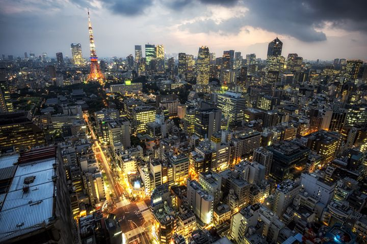tokyo tower city view - Aaron Choi Photography