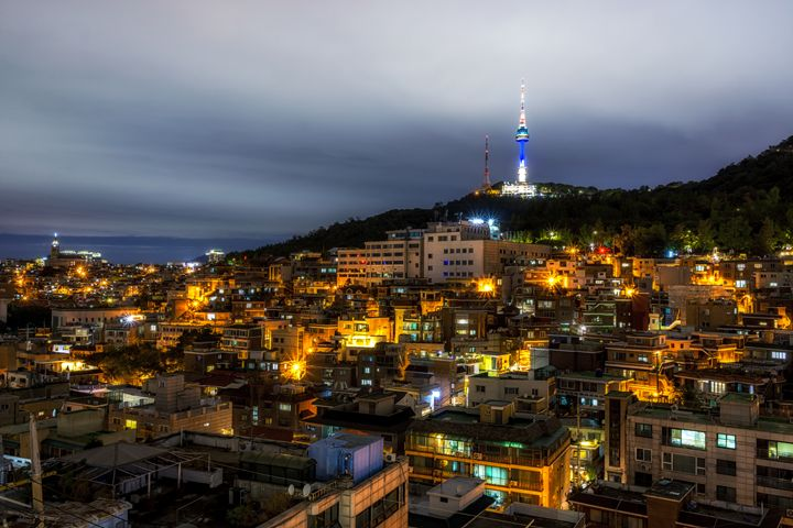 Namsan tower at night - Aaron Choi Photography