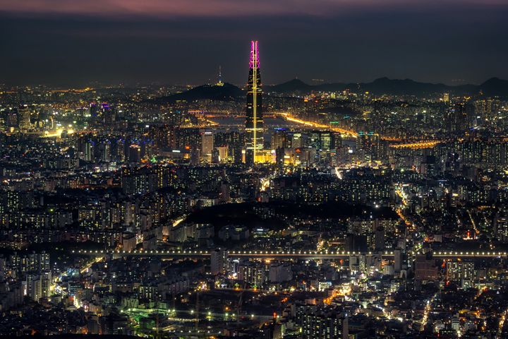 Night view over Seoul - Aaron Choi Photography