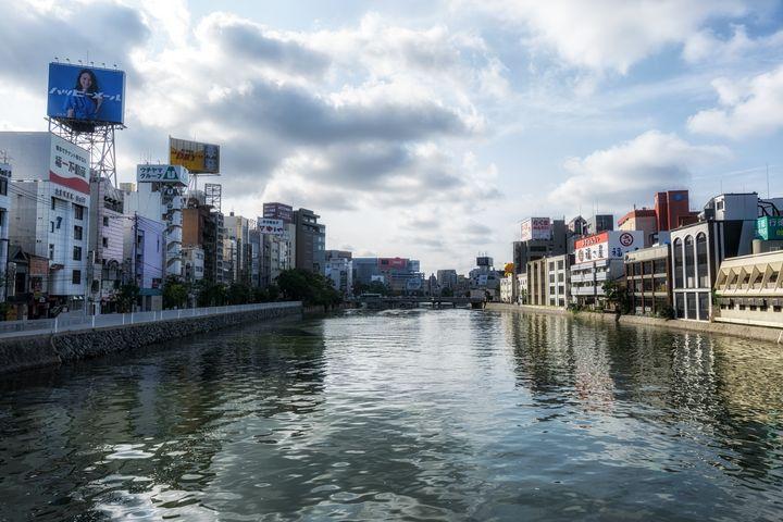 fukuoka naka river morning - Aaron Choi Photography