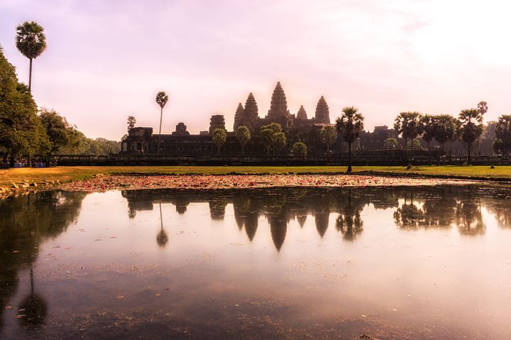 Reflecting Pond in Angkor Wat - Aaron Choi Photography