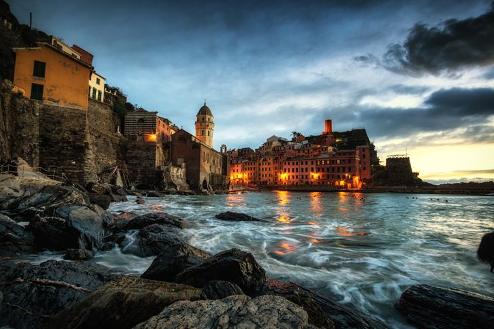 Vernazza at Sunset - Aaron Choi Photography