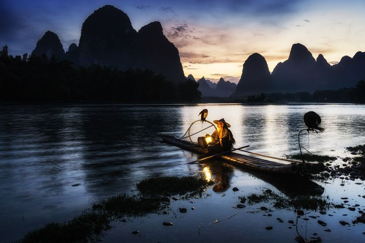 The cormant fisherman in li river - Aaron Choi Photography