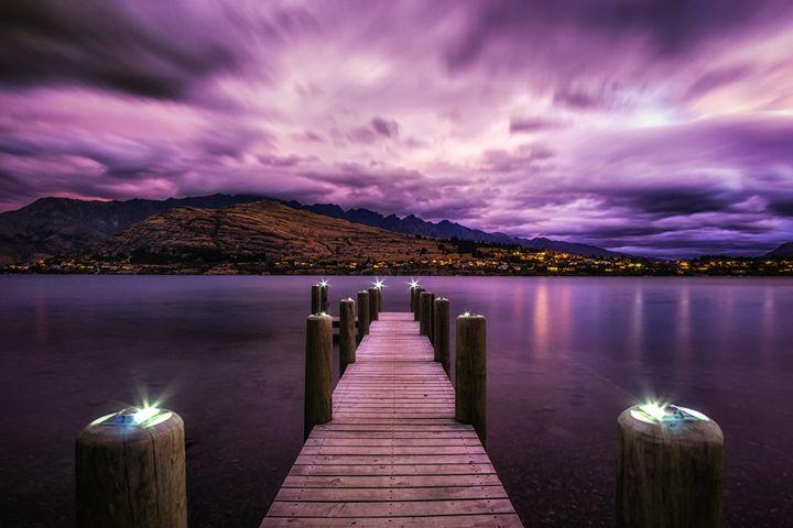 dreamy sky over lake wakatipu - Aaron Choi Photography