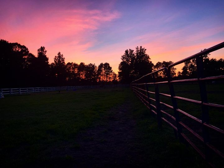 Sunset Farmscape - BEBingham Art