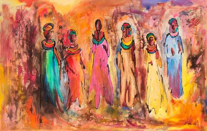 African Women Ana Mariño Paintings Prints Ethnic Cultural