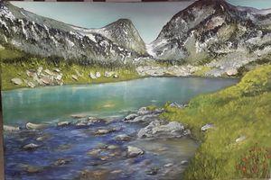 Mountain lake - Ludmila Zhivkova