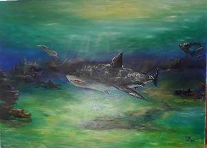 Sharks, 50/70, oil, canvas - Ludmila Zhivkova
