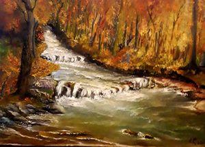 45/30, autumn, canvas, oil paints - Ludmila Zhivkova