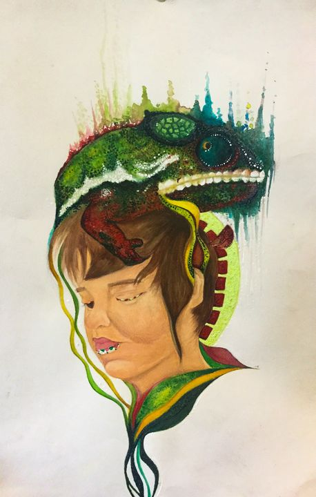 The Lizard and Freddie - Aoife Mc Hugh Art