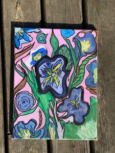 Vibrant floral canvas