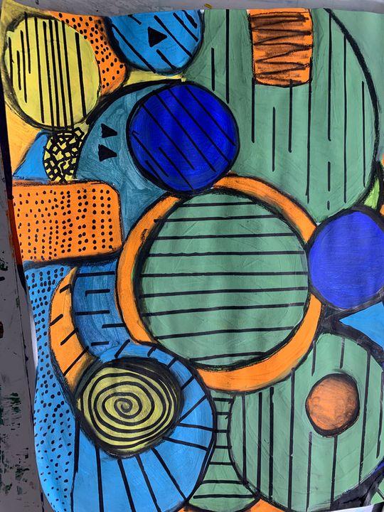 Abstract colourful design - artworkbyannette