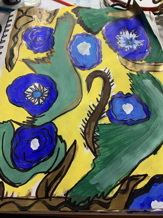 Vibrant landscape - artworkbyannette