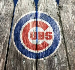 Chicago Cubs Wood Fence