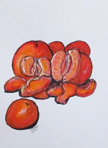 Juicy Tangerines - CJ Kell Art Work