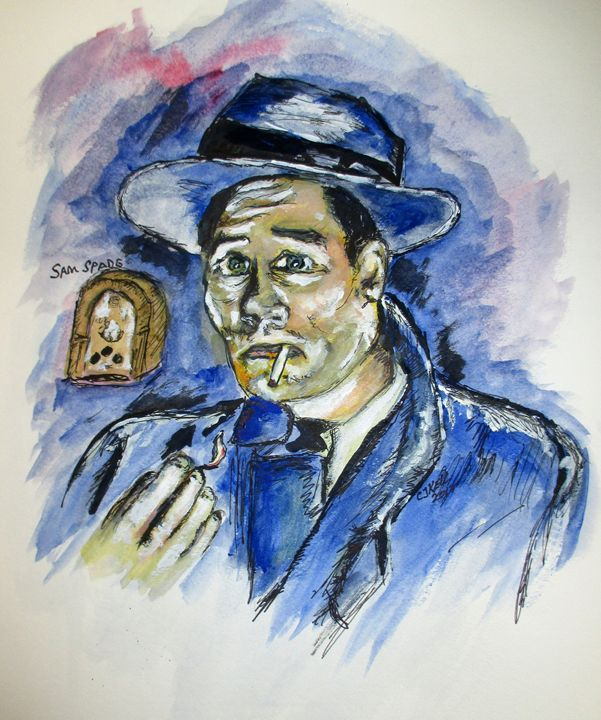 Radio's Sam Spade - CJ Kell Art Work