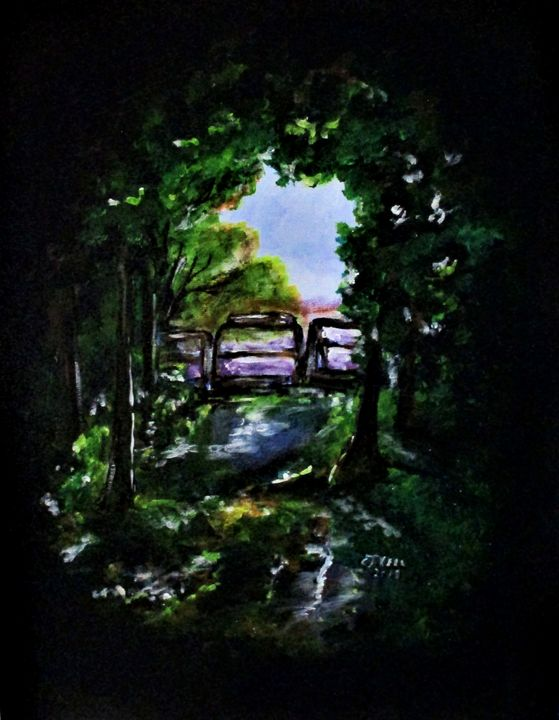 Green Pathway - CJ Kell Art Work