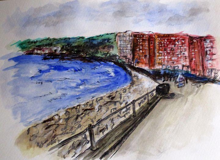 Mergellina Walkway Napoli - CJ Kell Art Work
