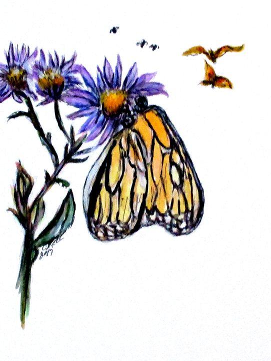 Erik's Butterfly One of Three - CJ Kell Art Work