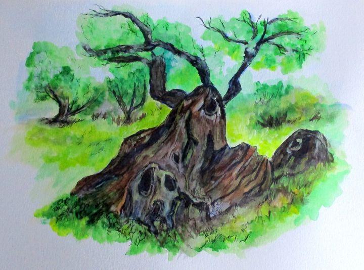 Olive Tree - CJ Kell Art Work