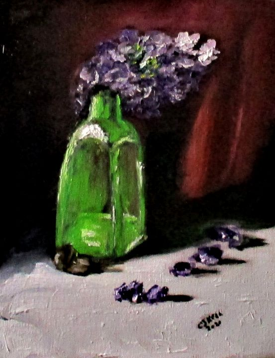 Bottled Purple No2. - CJ Kell Art Work