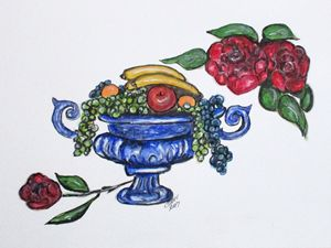 Classic Fruit Bowl - CJ Kell Art Work