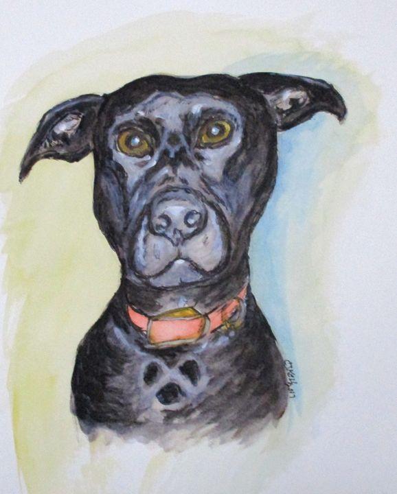 Linda's Doggie - CJ Kell Art Work