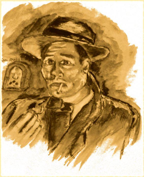 Sam Spade No1. - CJ Kell Art Work