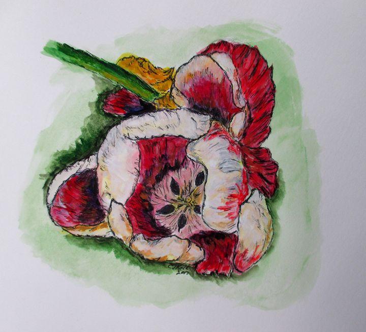 Kimberly's Flowers - CJ Kell Art Work