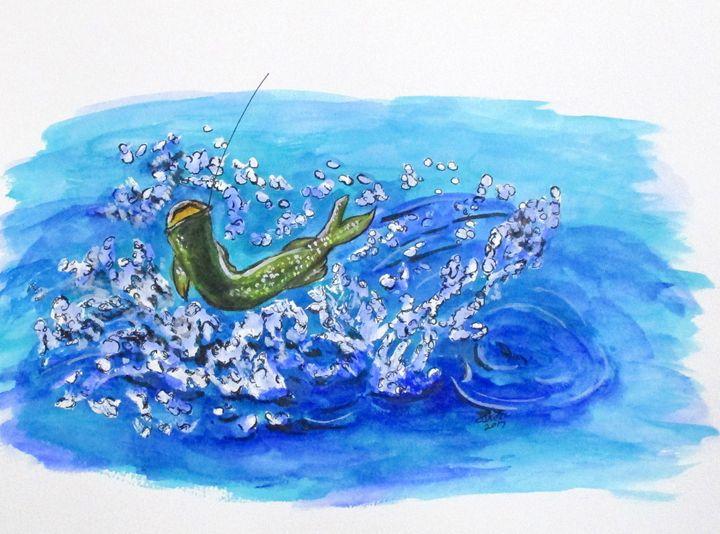 Caught Fish - CJ Kell Art Work