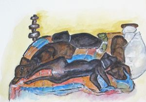 Our Bed Now - CJ Kell Art Work
