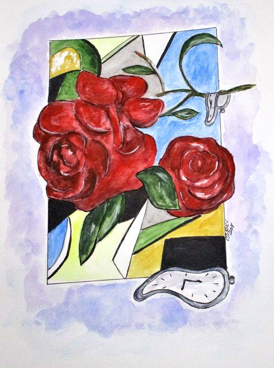 Whimsical Roses - CJ Kell Art Work