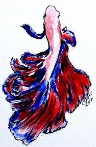 Art Doodle No. 32 Betta Fish