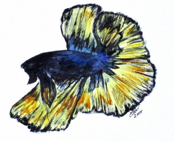 Art Doodle No. 34 Betta Fish - CJ Kell Art Work