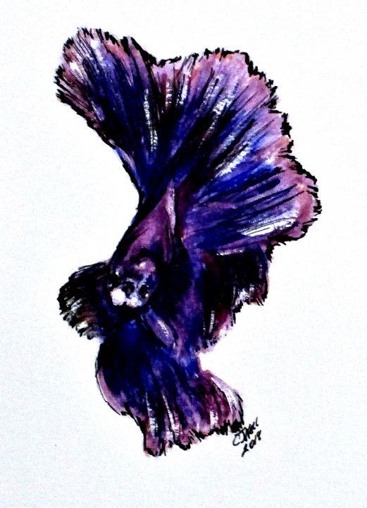 Art Doodle No. 35 Betta Fish - CJ Kell Art Work