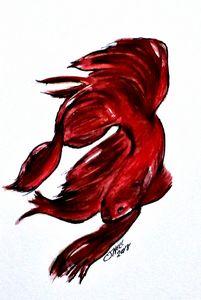 Art Doodle No. 36 Betta Fish