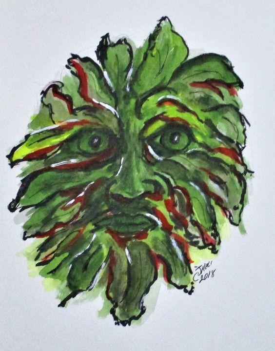 Fall Green Man - CJ Kell Art Work