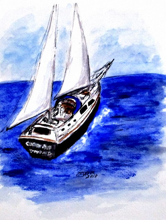 Sailing Away - CJ Kell Art Work