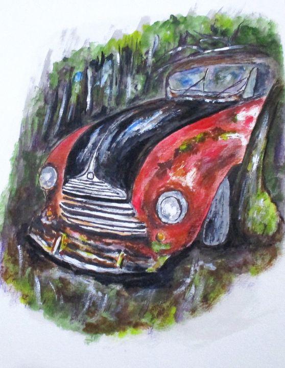 Abandoned in Woods - CJ Kell Art Work