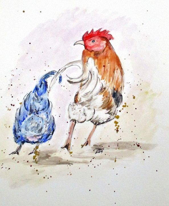 Rooster Butts - CJ Kell Art Work
