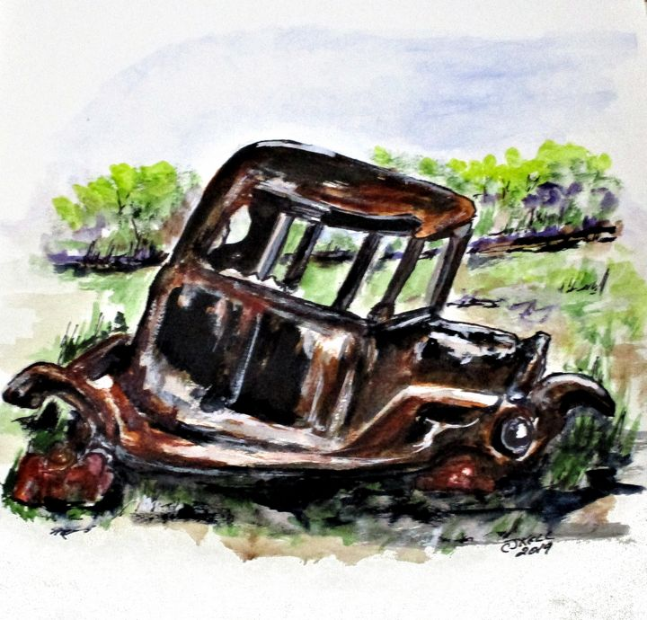 Wrecked And Rusting - CJ Kell Art Work