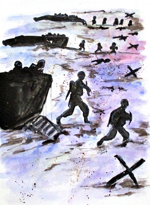 Stepping In Harms Way - CJ Kell Art Work