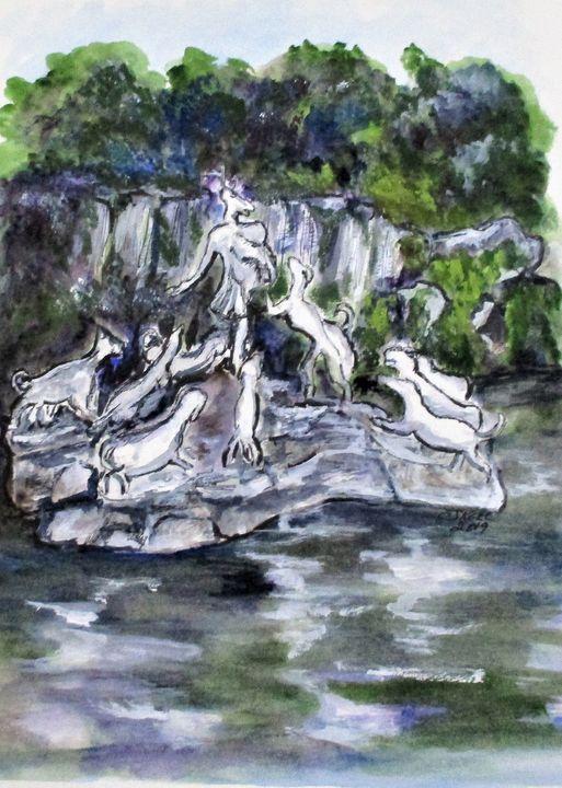 Actaeon Fountain Caserta - CJ Kell Art Work