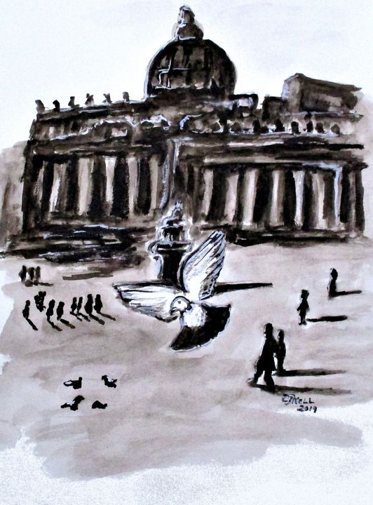 Holy Pigeons Two - CJ Kell Art Work