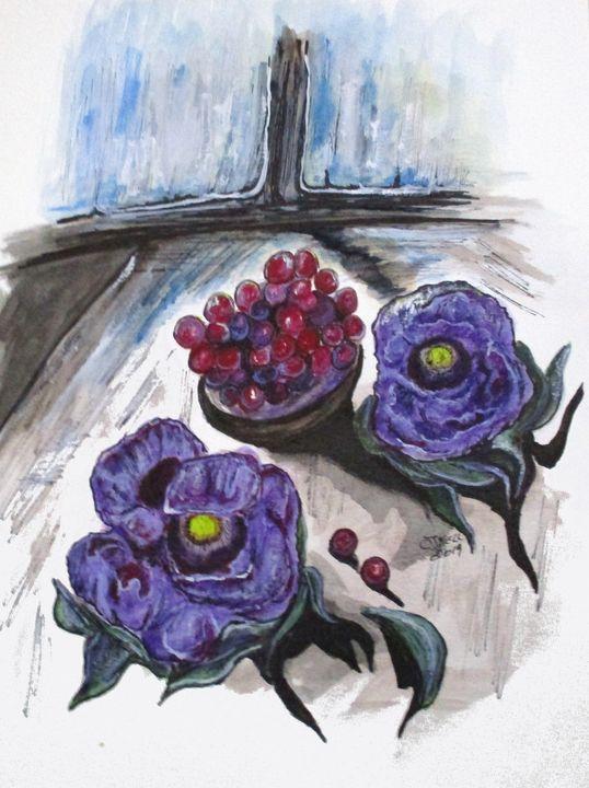 Lavender Enjoyment - CJ Kell Art Work