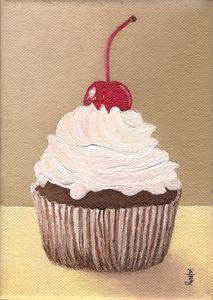 White Icing Cupcake