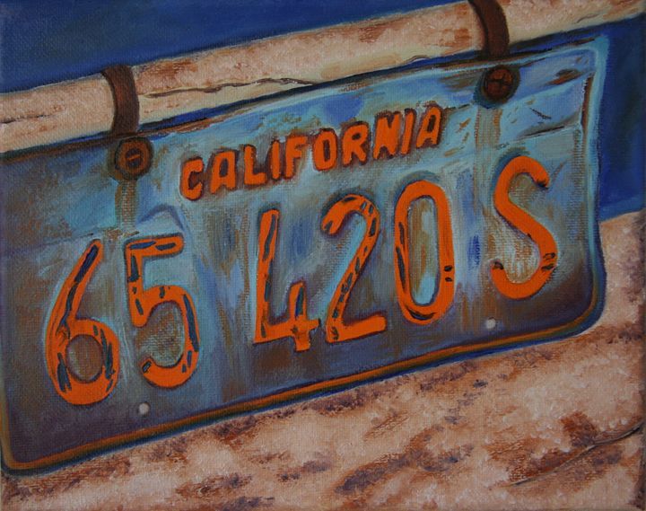 CA License Plates - Glad's Art Gallery