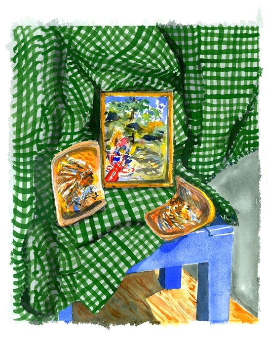 Checkered Green Tablecloth - WalkerStudio
