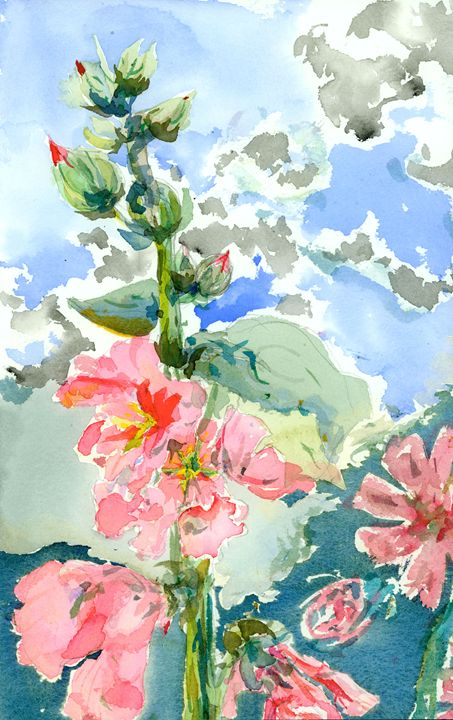 Hollyhocks #2 - WalkerStudio