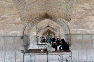 Siesta under the bridge in Esfahan
